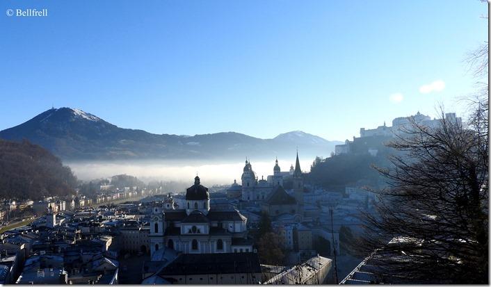 Salzburg mit Nebelschwade 2