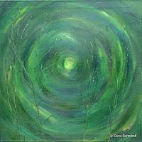 """""""Der Geist des Ginsters"""", Öl auf Leinwand, 72x72, 2005, verkauft"""