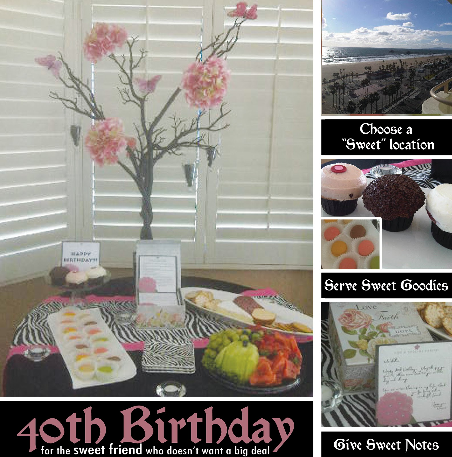 A Sweet 40th Birthday Party Theme