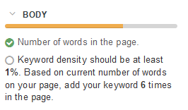 low keyword density in webtexttool