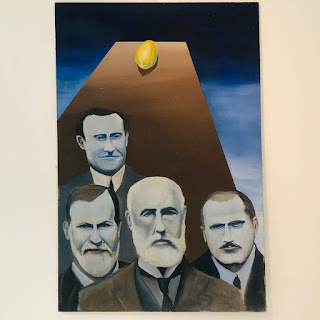 Freud, Jung, Hall & Brill Acrylic Painting
