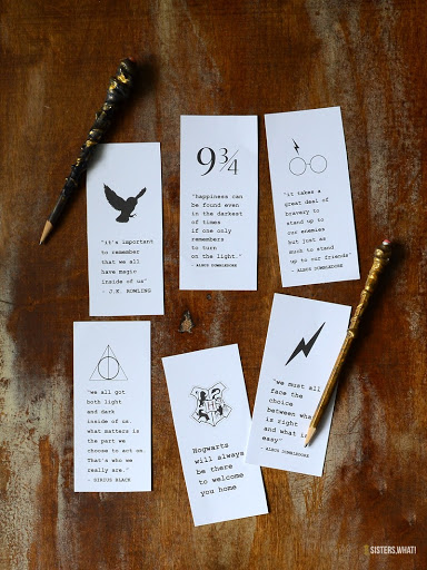 graphic relating to Free Printable Harry Potter Bookmarks referred to as Innovative Harry Potter Printable Bookmarks - Sisters, What!