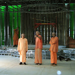 Swami Prapannananda and resident swamis on inspection