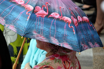 Woman with an umbrella at Royal Ascot