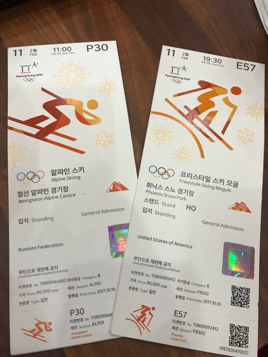 Greetings from pyeongchang melanoma and the city the 1st event is the day was canceled due to extreme cold weather and high winds we did make it to watch womens moguls cold but fun kristyandbryce Gallery