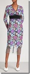 Diane von Furstenberg Honeycomb Lace Midi Dress