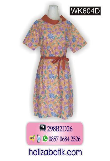 dress batik modern, model baju terbaru, baju batik wanita modern