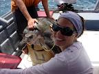 Vasilisa & the turtle (Puerto Escondido)
