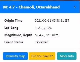 Uttarakhand Earthquake Today: चमोली में 4.7 तीव्रता का भूकंप