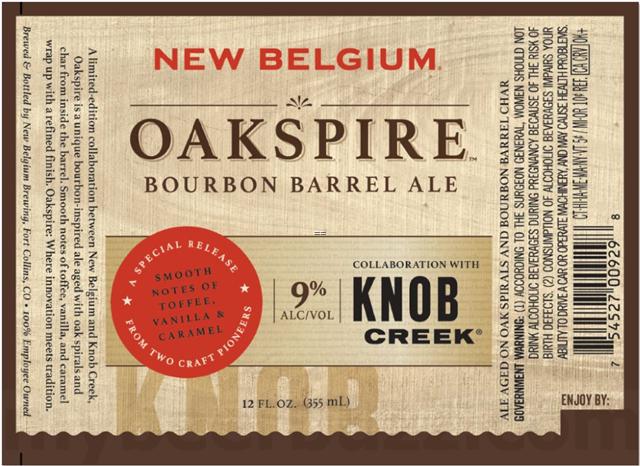 New Belgium & Knob Creek Collaborate On Oakspire Bourbon Barrel Ale