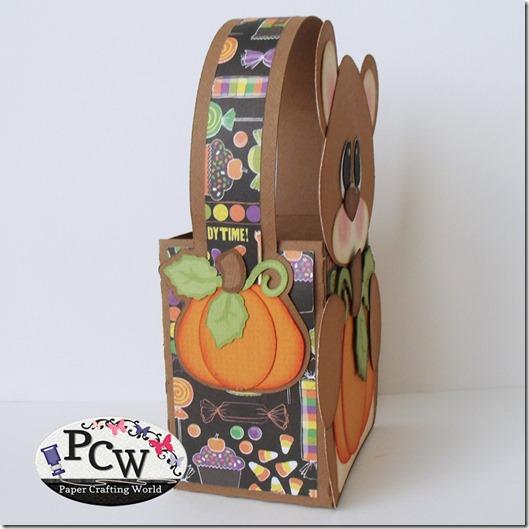 Bear Pumpkin SVG Treat Box File