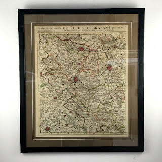 18th C. Engraved Map of Duchy of Brabant
