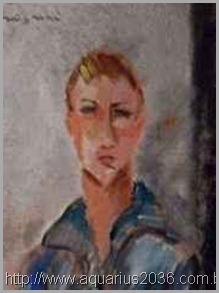 Jovem desencarnado, pintado por Modgliani.