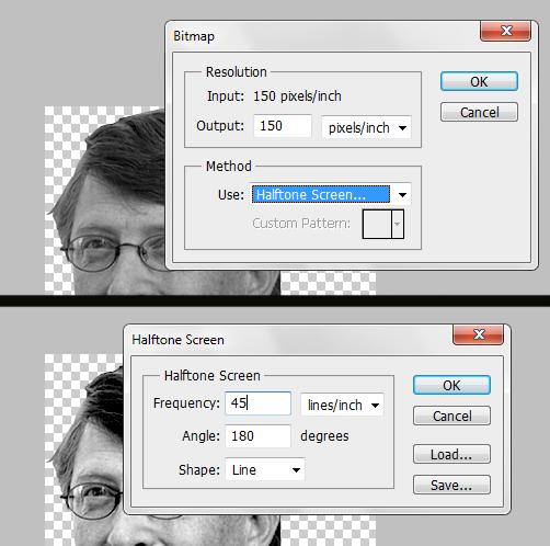 Diálogos da conversão da imagem para Bitmap