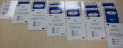 208 Irregular Verbs Playing Cards Solitaire