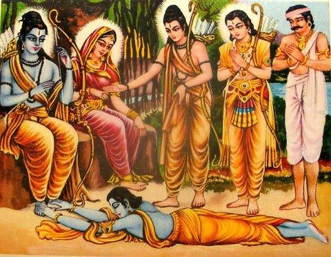 Rama and Bharat in Chitrakoot