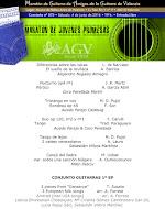 Programa del Maratón de Guitarra de Amigos de la Guitarra de Valencia