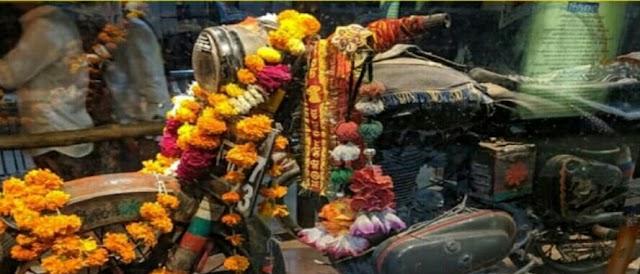 भारत के इस मंदिर में, मोटरसाइकिल बुलेट की पूजा की जाती है, लोगों की हर इच्छा पूरी होती है