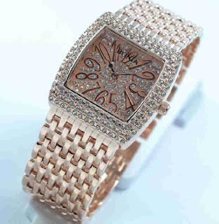 Jam tangan Bonia full diamond Rosegold