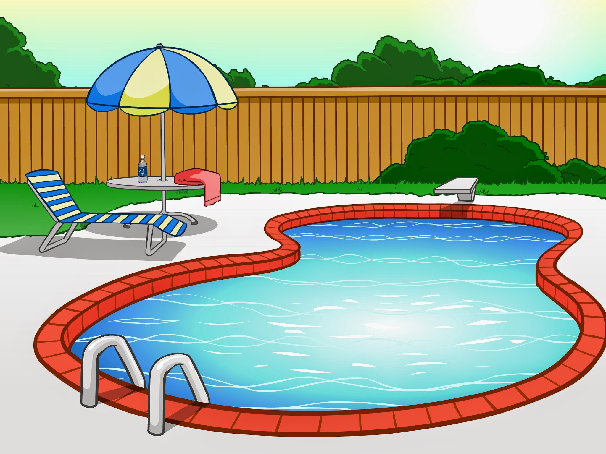 Swimming pool cartoon images music search engine at for Swimming pool in