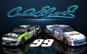 Carl Edwards Aflac Nascar United Wicked Text Wallpaper