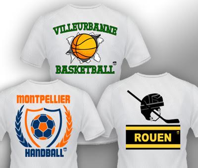 T-shirt supporters de sport