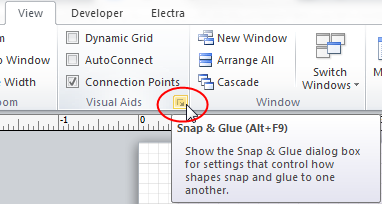 To open Snap & Glue window