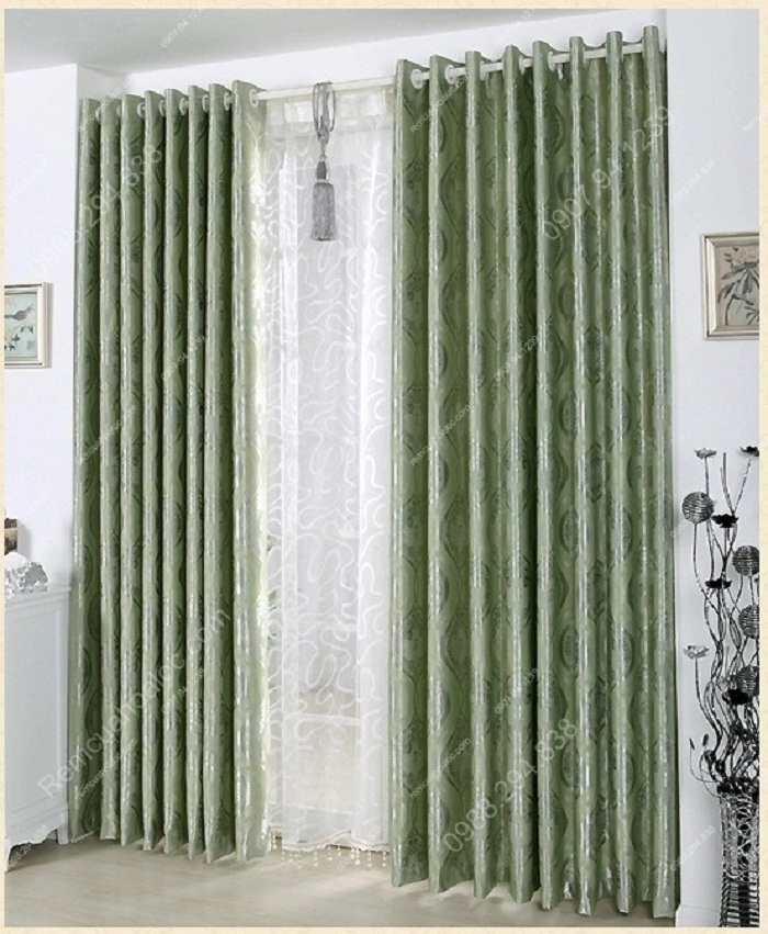 Rèm cửa hải phòng đẹp họa tiết ngọc 2