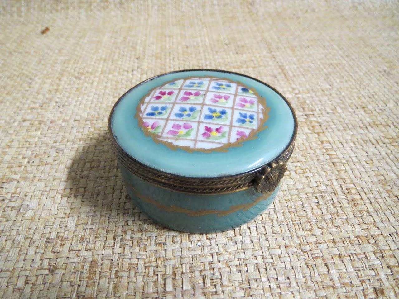 Limoges Aqua Pill Jar