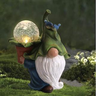 LED Garden Gnome, Solar powered Gnome statue