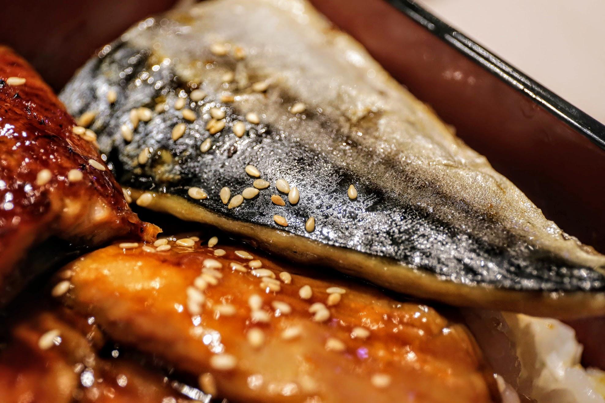 鯖魚沒有骨頭,帶著一點點鹹味
