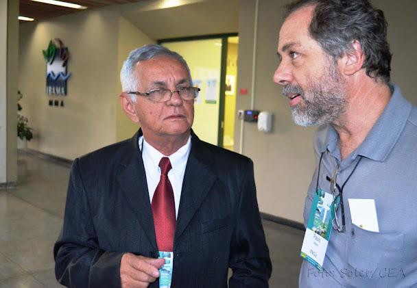 Francisco Soares, da FURPA, representa as ONGs da região nordeste e Paulo Brack, do INGA, representa as ONGs da região sul no mais importante colegiado ambiental do Brasil, alertam para o retrocesso ambiental. Foto: Soler/CEA