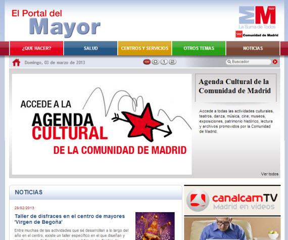 Nuevo diseño del Portal del Mayor de la Comunidad de Madrid