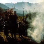 D 04 Basotho Family, Smoke & Mt Silhouette.jpg