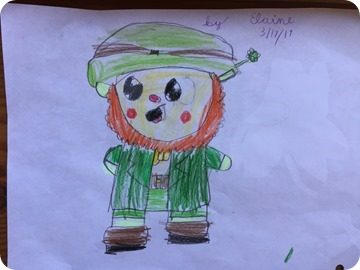 Elaine's St. Patrick's Day Drawings
