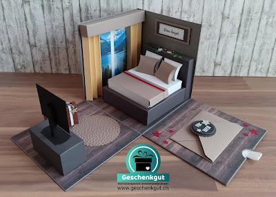 Geschenkbox Explosionsbox Überraschungsbox Hotelübernachtung Gutschein Reisen Hotel Urlaub Ferien