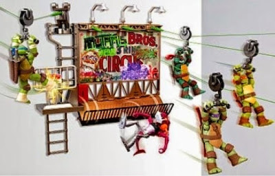 Teenage Mutant Ninja Turtles Z Line Ninja Deluxe Zipline Playset - Billboard Breakout