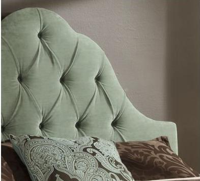 Queen Upholstered Headboard In Teal Twill Modern Headboards | Bed Mattress Sale