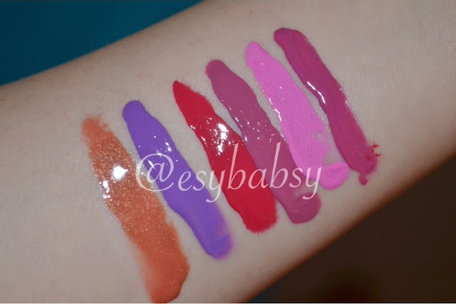 review-la-girl-lip-glazed-lip-paint-pin-up-gleam-coy-babydoll-bombsell-blushing