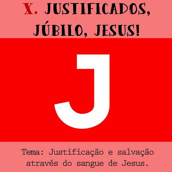 Justificação e salvação através do sangue de Jesus.