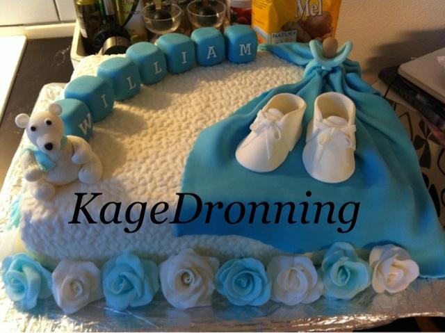 KageDronning: Dåbskage med sko,bamse og klodser