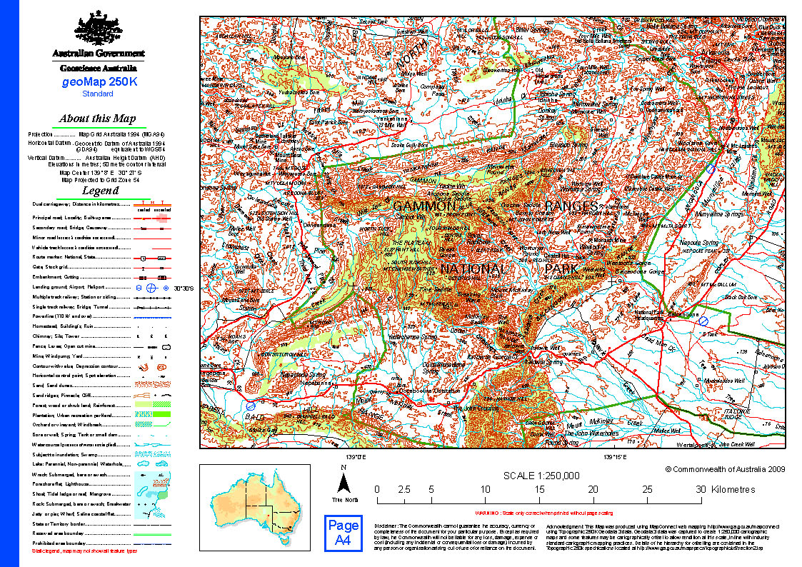 australia 250k map