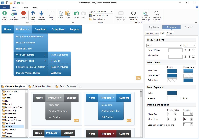 Blumentals Easy Button & Menu Maker Professional 5.3.0.37