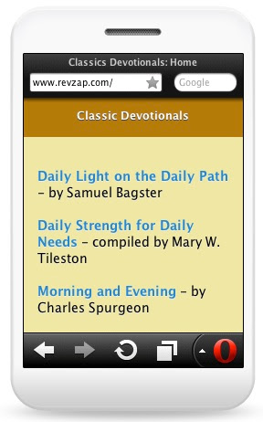 Classic devotionals on the Opera Mini
