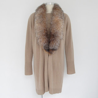 Neiman Marcus Cashmere & Fox Sweater Set