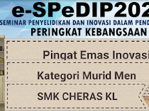 Anugerah Pingat Emas e-SPeDIP2020: Inovasi Kategori Murid Sekolah Menengah