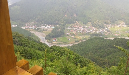 桂山展望台からの玉川