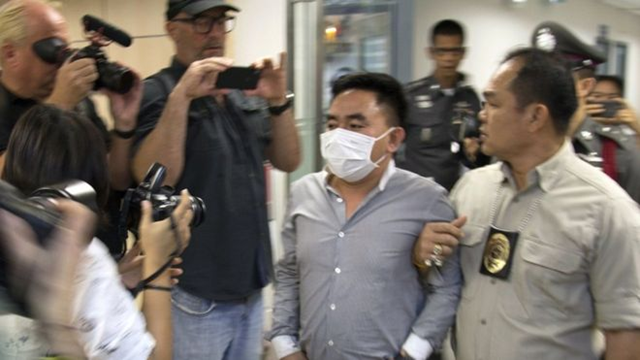 Thai police arrest Boonchai Bach, alleged to be the head of Asia's biggest illegal wildlife trading networks. Boonchai Bach, a 40-year-old Thai of Vietnamese origin, was detained in a town on the border with Laos. Photo: EPA