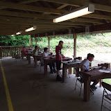 It was nice to have the range to ourselves.