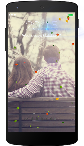 android Fall leaves Lock Screen Screenshot 3